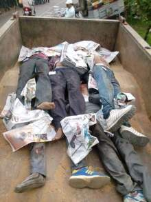 Corpses of those killed in Tikamgarh accident