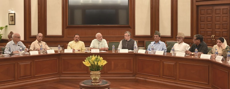 Opposition leaders from Jammu and Kashmir met Prime Minister Narendra Modi today