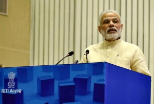 Prime Minister Narendra Modi delivering the inaugural address at the NITI 'Transforming India' Lecture Series, in New Delhi on August 26, 2016.