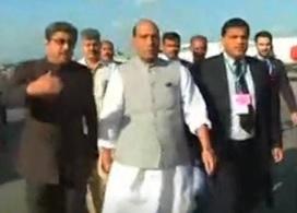 Rajnath Singh arrives in Pakistan