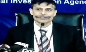 National Investigation Agency Inspector General Sanjeev Kumar Singh addressing media persons in New Delhi
