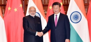 Prime Minister Narendra Modi meets Xi Jinping, President of China in Hangzhou during his visit to China