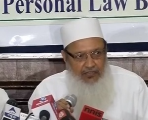 AIMPLB general secretary Syed Mohammad Wali Rahmani addressing media on 13 October, 2016
