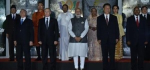 Group Photograph of BRICS and BIMSTEC leaders in Goa