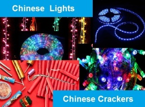Chinese lights and Chinese crackers