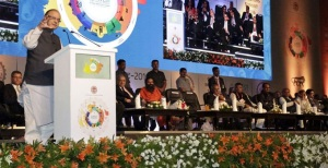 Finance Minister Arun Jitley at Global Investors Summit at Indore on 22 November 2016.