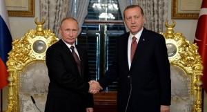 President of Russia Vladimir Puti with President of Turkey Recep Tayyip Erdogan