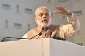 Prime Minister Narendra Modi addressing the National MSME Awards ceremony at Ludhiana on 18 October 2016