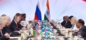 Prime Minister Narendra Modi and Russian President Vladimir Putin lead delegation level talks in Goa