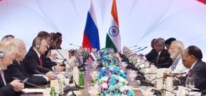 Prime Minister Narendra Modi and Russian President Vladimir Putin lead delegation level talks in Goa