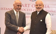 President of Afghanistan Dr Mohammad Ashraf Ghani and Prime Minister of India Narendra Modi at the Heart of Asia Summit