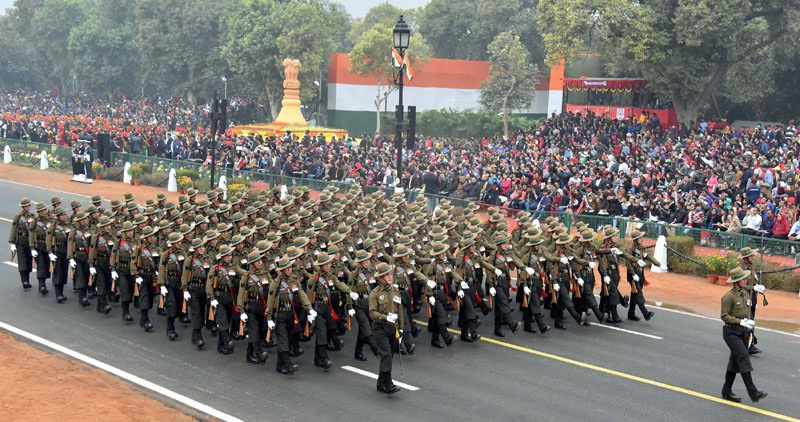 39 Gorkha Training Centre Contingent passes through the Rajpath, on the occasion of the 68th Republic Day Parade 2017, in New Delhi on January 26, 2017.