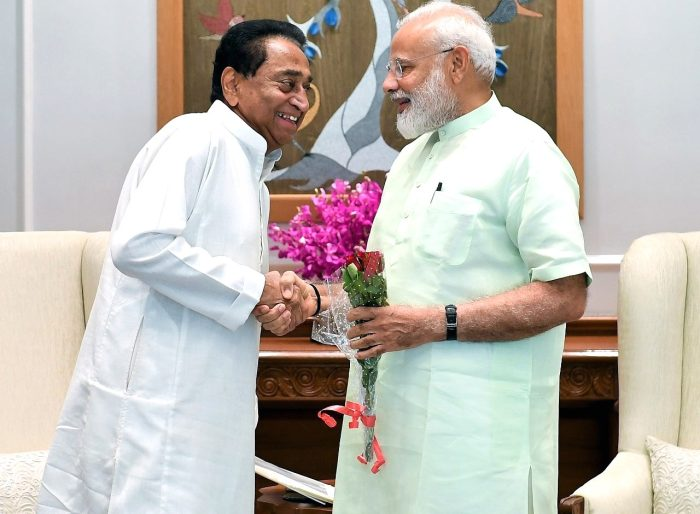 Madhya Pradesh CM Kamal Nath met Prime Minister Narendra Modi in new Delhi on Thursday  6 June 2019
