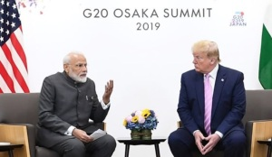 Prime Minister meets Donald Trump President of United States on the sidelines of G20 Summit 2019 in Osaka Japan