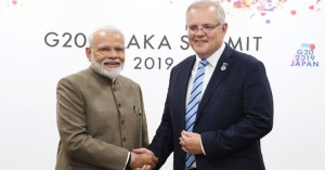 Prime Minister meets Scott Morrison, Prime Minster of Australia on the margins of G20 Summit in Osaka, Japan