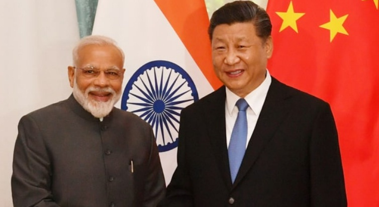 Prime Minister Narandra Modi met Xi Jinping President of China on the sidelines of SCO Summit 2019 in Bishkek on 13 June 2019