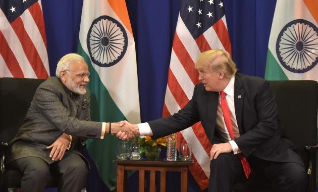 Prime Minister Modi with the US President Donal Trump in manila Phillippines 13 November 2017 Representative photo