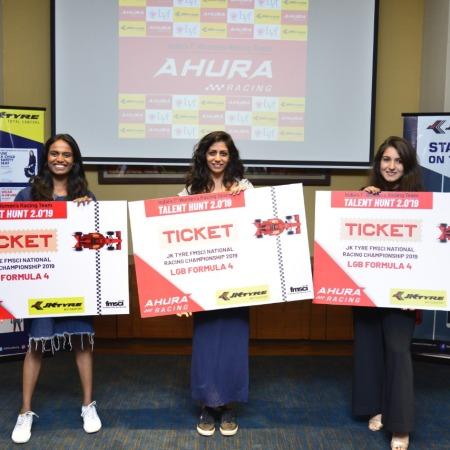 The top three drivers of Team Ahura