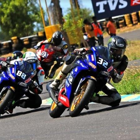 Vijay S - winner of the Stock 165cc -Novice Race June 8