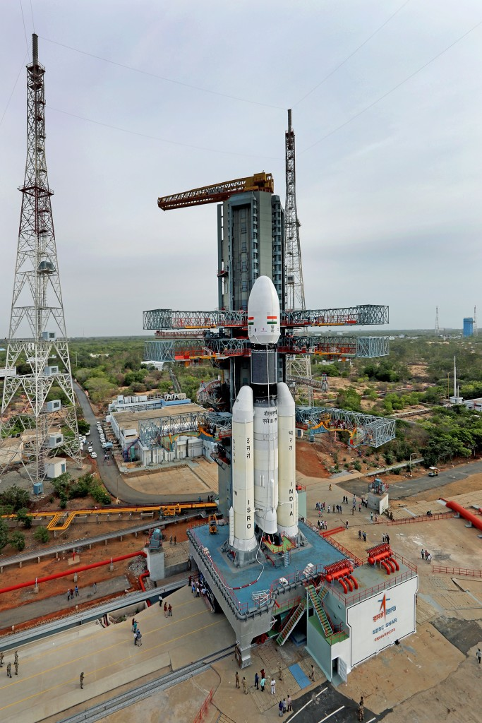 GSLV MkIII-M1 vehicle at the Second Launch Pad