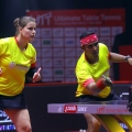 PETRISSA SOLJA of Team Chennai Lions and ACHANTA SHARATH KAMAL of Team Chennai Lions in action during the match of the Ultimate Table Tennis League played between Team Chennai Lions and Team RP-SG Mavericks Kolkata at Thayagraj Stadium in Delhi, India on 6th August 2019. Photo : Sandeep Shetty / Focus Sports / Ultimate Table Tennis
