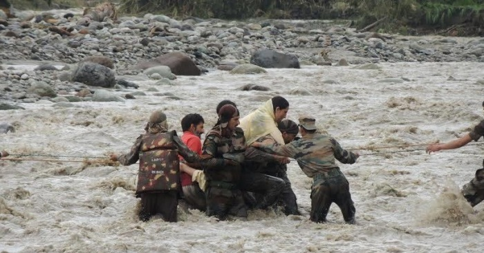 Flood relief by Indian Army in J&K (representative photo)