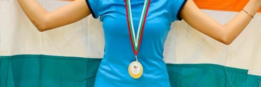 Tanisha Crasto won gold medal in the girls' doubles category in Bulgarian Junior International Championships