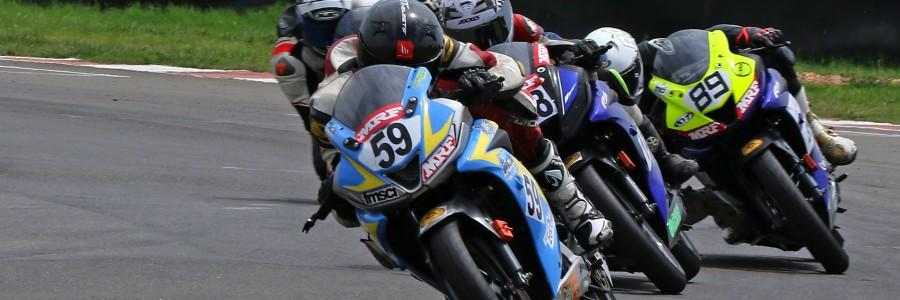 Venkatesan (59), on way to winning the Stock 165cc (Novice) (Aug 3, 2019)