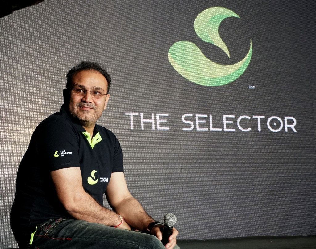 Virendar Sehwag, Brand Ambassador of The Selector App launched the App in New Delhi on Wednesday