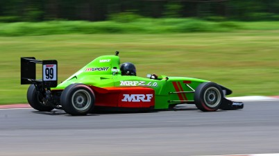 Raghul Rangasamy, who scored a double in the MRF F1600 category (Sept 13)