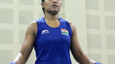 India Open Gold medallist Bhagyabati kachari won her semi-final bout 5-0.JPG