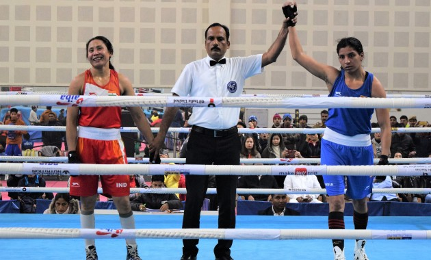 India will be represented in the 60 kg category by Simranjit Kaur as she defeated veteran Sarita Devi in a split verdict during the trails that took place in Delhi