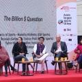 Manisha Malhotra, Deepthi Bopaiah, Toshan, Tuhin Patil and Shireen in conversation at Ekamra Sports Lit Fest
