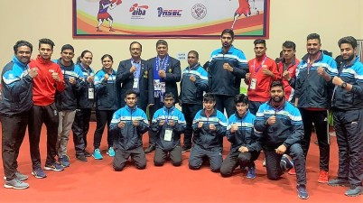 The 7 Indian boxers who crusied into the finals of 13th South Asian Games in Nepal on Saturday.